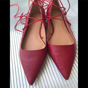 ZARA TRF RED WITH STRINGS